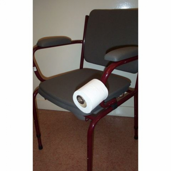 Support de papier toilette sur chaise percée